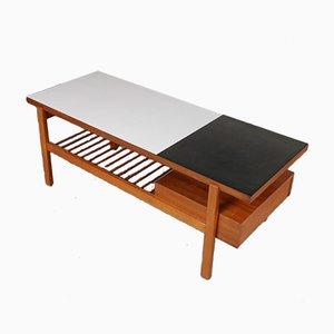 Table Basse en Noyer par Jos de Mey pour Van Den Berghe-Pauvers, Belgique, 1950s