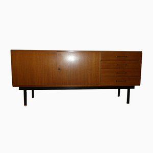 Mid-Century Walnut and Steel Sideboard, 1960s