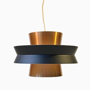 Swedish Copper Ceiling Lamp by Carl Thore / Sigurd Lindkvist for Granhaga Metallindustri, 1960s