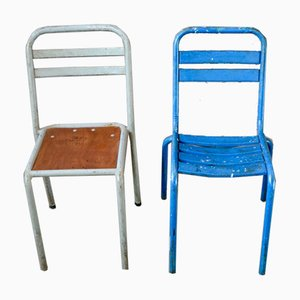 Industrial Dining Chairs, 1950s, Set of 2