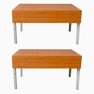 Modernist Nightstands from Interlübke, 1970s, Set of 2