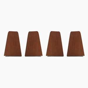 Mid-Century Teak Bookends from FM Møbler, 1960s, Set of 4