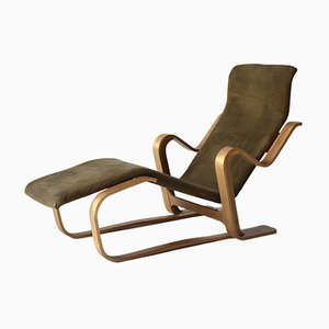 Birch and Suede Lounge Chair by Marcel Breuer for Isokon, 1960s