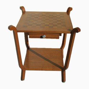 Tavolo da gioco in quercia, anni '40