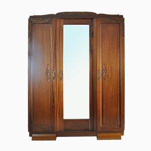 Mueble francés Art Déco con espejo facetado, años 30