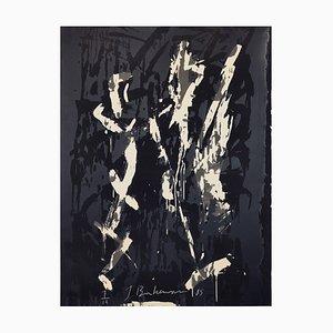 Großer abstrakter Siebdruck von Jens Birkemose, 1980er