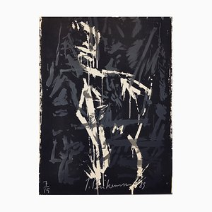 Large Abstract Screen Print by Jens Birkemose, 1980s