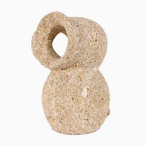 Lámpara de mesa en forma de búho de piedra de Gérard Esnault, años 80