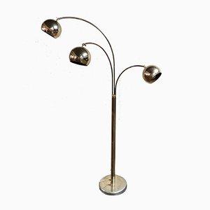 Brass 3-Point Floor Lamp, 1970s