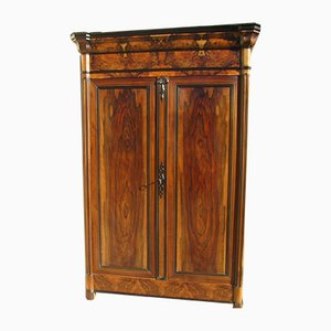 Antique Empire Style Walnut and Elm Cabinet, 1900s