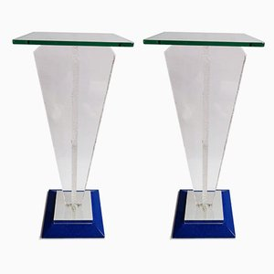 Lucite Pedestals, 1980s, Set of 2