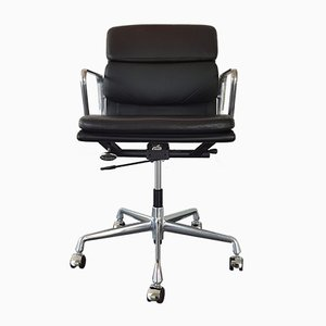 Aluminum and Leather EA 217 Desk Chair by Charles & Ray Eames for Vitra, 1996