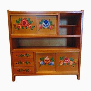 Vintage Wooden Spice Cabinet, 1970s