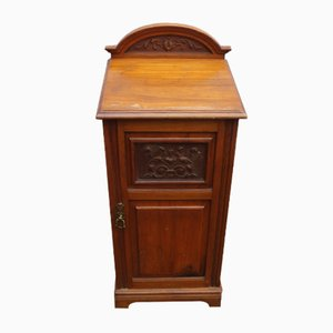 Antique Satin Walnut Nightstand, 1910
