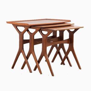 Tables Gigognes Mid-Century en Teck par Johannes Andersen, 1960s