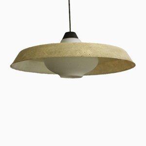 Lampe à Suspension Vintage en Verre Opalin