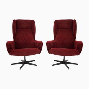 Sedia girevole rossa, anni '80