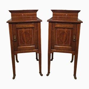 Antique Mahogany Cabinets, Set of 2