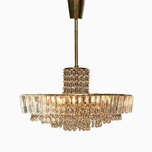 Lámpara de araña Mid-Century de cristal