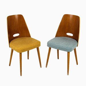 Mid-Century Dining Chairs from ONV Pisek, 1960s, Set of 2