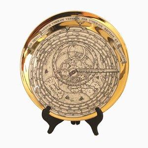 Assiette Décorative Astrolabe Vintage par Atelier Fornasetti pour Fornasetti, 1960s