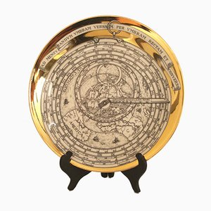 Vintage Decorative Astrolabe Plate by Atelier Fornasetti for Fornasetti, 1960s