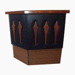 Mueble bar vintage de formica y palisandro, años 60