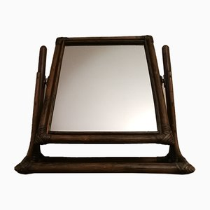 Espejo vintage de bambú inclinable