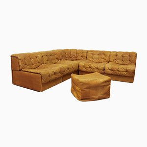 DS-11 Sofas and Pouf Set by De Sede for de Sede, 1970s
