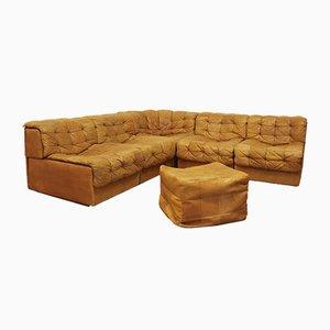 Juego de sofás y pufs DS-11 de De Sede para de Sede, años 70