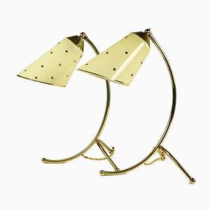 Tischlampen aus Messing, 1950er, 2er Set