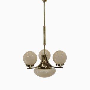 Lampadario Art Deco in ottone, anni '30