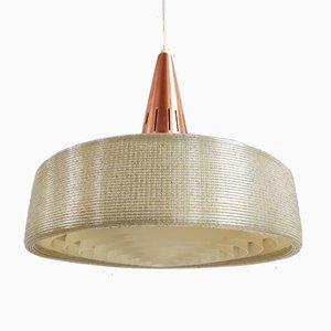 Skandinavische Mid-Century Deckenlampe aus Kupfer, 1970er