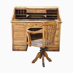 Art Déco Set aus Schreibtisch & Stuhl, 1930er