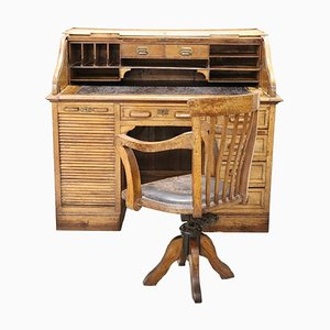 Scrivania Art Déco e sedia, anni '30