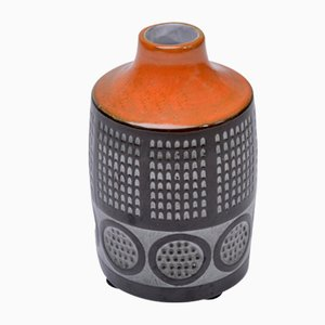 Vaso piccolo Mid-Century in ceramica di Mari Simmulson per Upsala Ekeby, anni '60