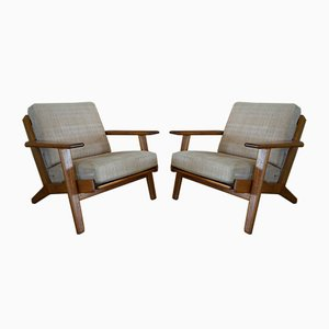 Model GE-290 Club Chairs by Hans J. Wegner for Getama, 1968, Set of 2