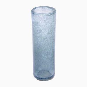 Jarrón en azul de vidrio soplado de Per Lütken para Holmegaard, años 60