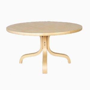Table Basse Ronde par Ilmari Lappalainen pour Asko, Finlande, 1960s