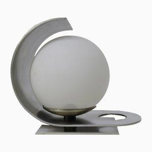 Lámpara de mesa italiana pequeña de aluminio de Pia Guidetti Crippa para Lumi, años 70