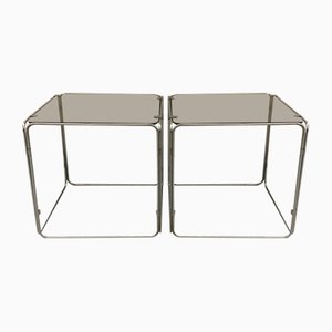 Side Tables by Max Sauze for Isocèle , 1970s, Set of 2