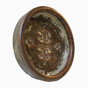 Danish Stoneware Dish by Jørgen Mogensen, 1960s