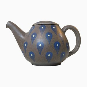 Danish Glazed Stoneware Teapot from Melle Keramik, 1960s