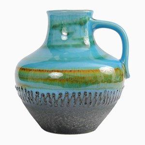 Türkise Fat Lava Vase von Carstens, 1960er