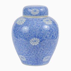 Jarrón japonés antiguo de porcelana de Kato Shigeju