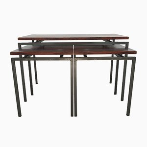 Vintage Rosewood Nesting Tables by Cees Braakman for Pastoe, 1960s, Set of 3