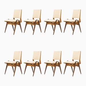Dining Chairs by Maurice Pré, 1950s, Set of 8