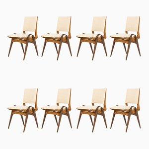 Esszimmerstühle von Maurice Pré, 1950er, 8er Set