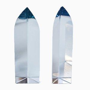 Schwedische Glasskulpturen von Strömbergshyttan, 1960er, 2er Set