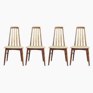 Mid-Century Beistellstühle von Niels Koefoed für Koefoeds Møbelfabrik, 4er Set